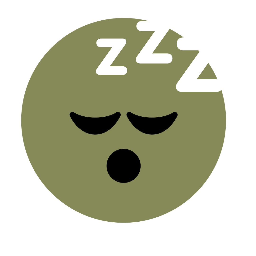 Sleep Icon Black Eyes